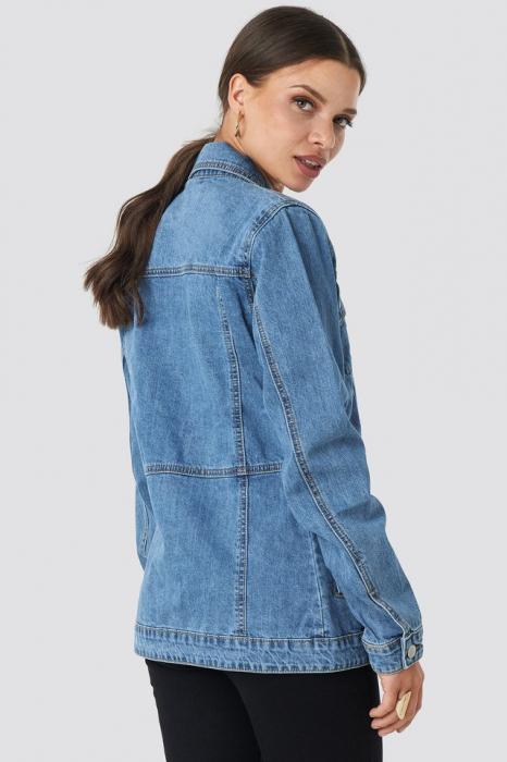 Geaca Marked Waist Denim Jacket [1]