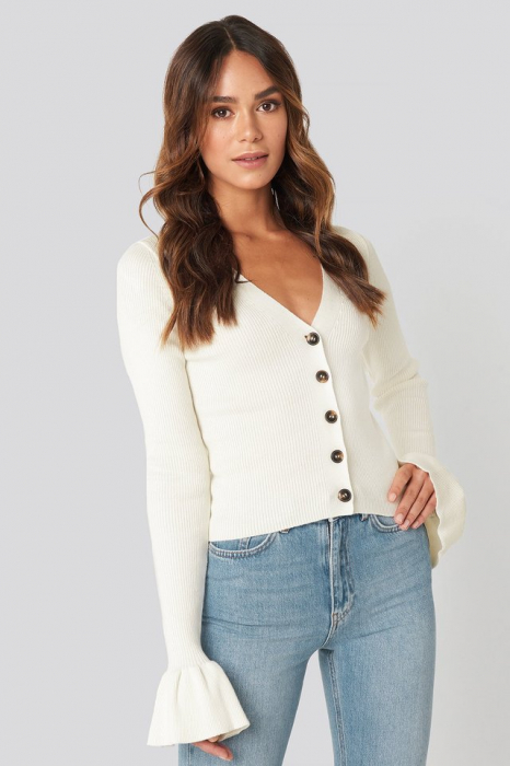 Pulover Button Down Bell Sleeve [0]