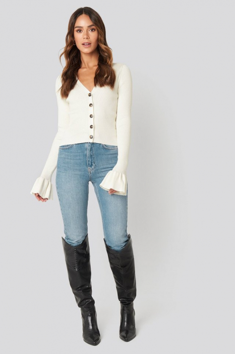 Pulover Button Down Bell Sleeve [2]