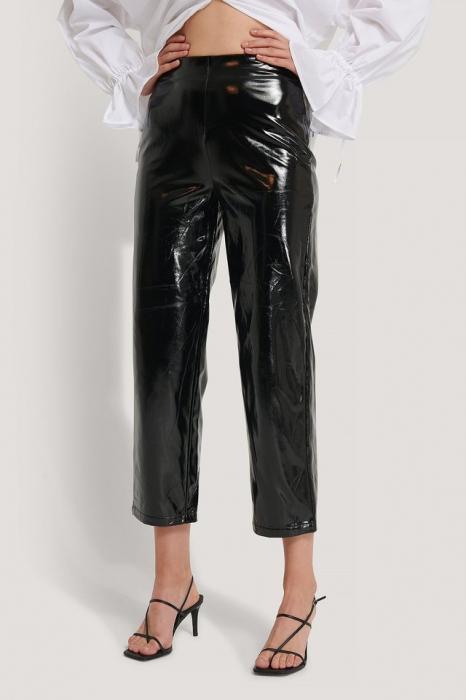 Pantaloni Highwaist Patent 2