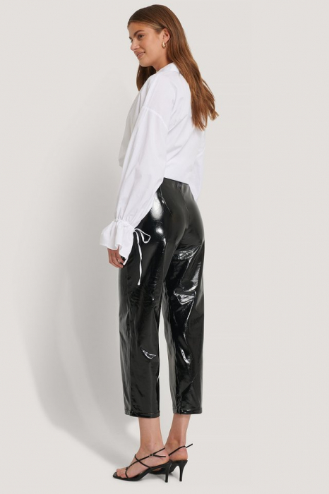 Pantaloni Highwaist Patent 3