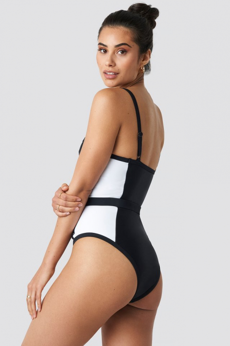 Thin Strap Waist Belted Swimsuit 1