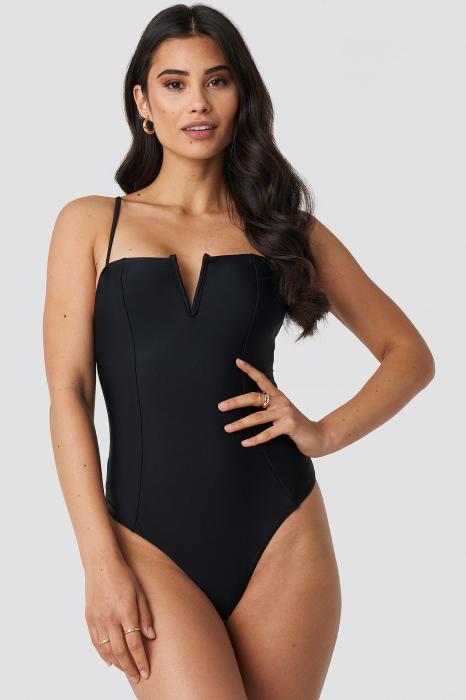 Costume de baie V-Shape Front Seam 0