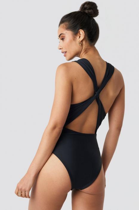 Wide Straps Cross Back Swimsuit [1]