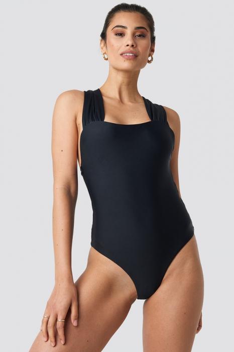 Wide Straps Cross Back Swimsuit [0]