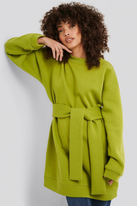 Bluza Oversized Waist Belt Sweater 0