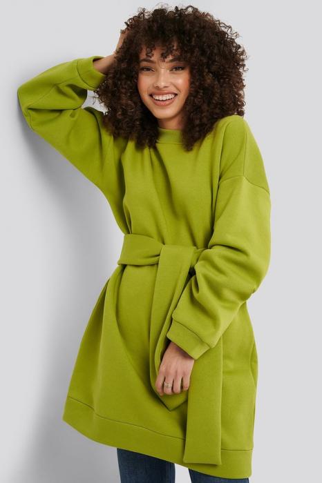 Bluza Oversized Waist Belt Sweater [2]