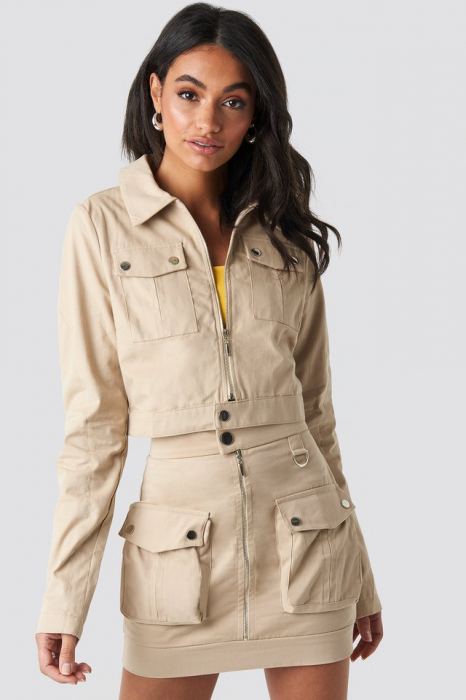 Jachetă scurtă cu fermoar 2