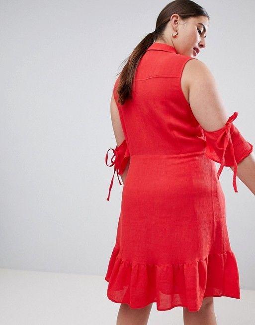 Rochie Plus Size Ruffle [3]