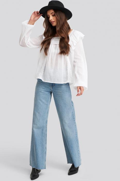 Bluza Square Neckline Lace 3