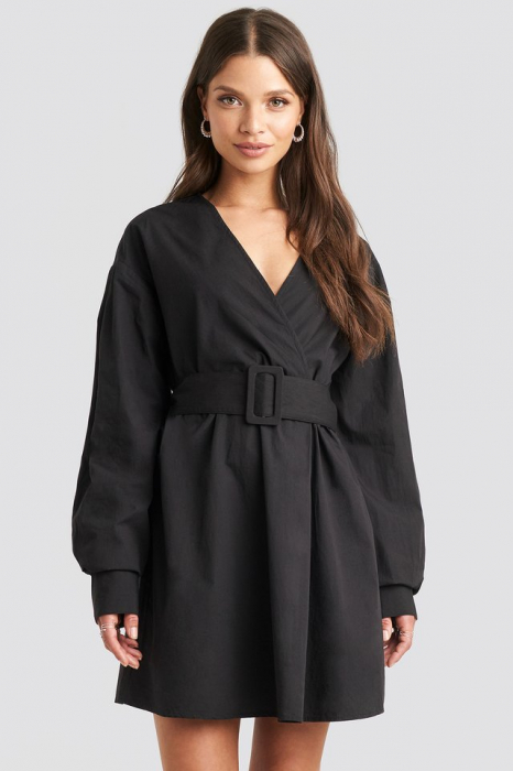 Rochie Camasa Belted Long Sleeve 1
