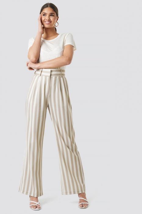 Pantaloni Tailored Striped 0