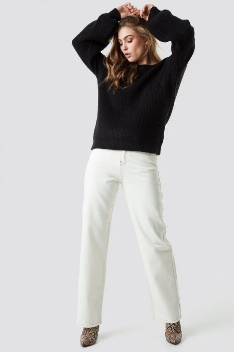 Pulover Deep V Back Sweater [2]
