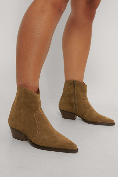 Botine din piele naturala Cruce Ankle Boots [3]