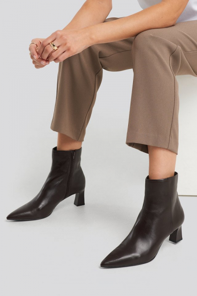 Botine din piele naturala Inky Ankle Boots [4]