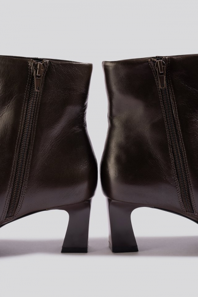 Botine din piele naturala Inky Ankle Boots [1]