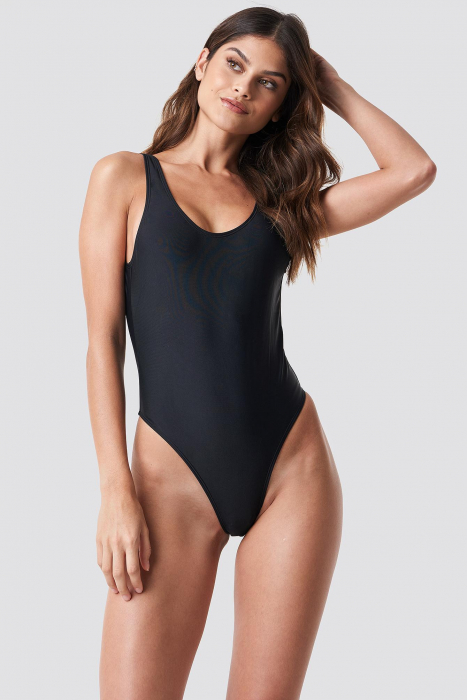High Leg Swimsuit Black 0