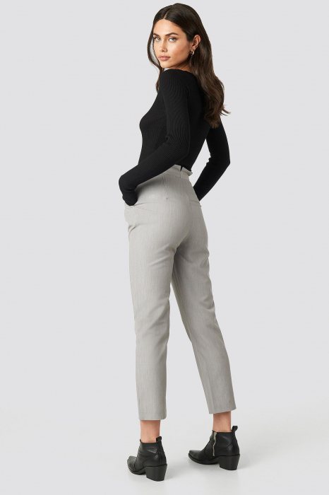 Pantaloni Paper Waist Straight [3]