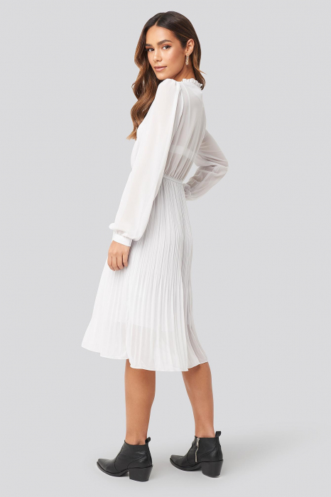 Pleated Flowy Button Up Dress 1