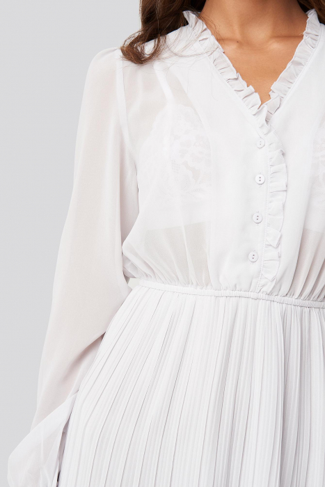 Pleated Flowy Button Up Dress 2