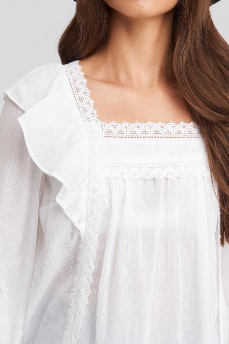 Bluza Square Neckline Lace 2