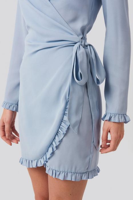 Rochie Frill Detail Tie Waist Mini 3