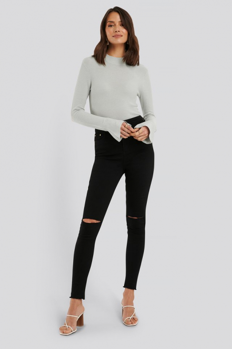 Bluza Turtle Neck Wide Sleeve Top 2
