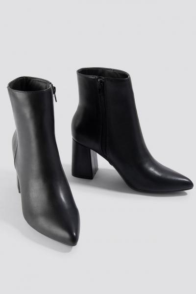 Botine Basic Block Heel Booties [3]