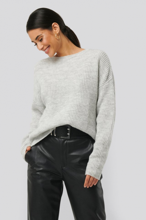 Pulover Basic Round Neck Knitted [0]