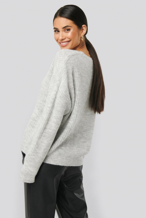 Pulover Basic Round Neck Knitted [1]