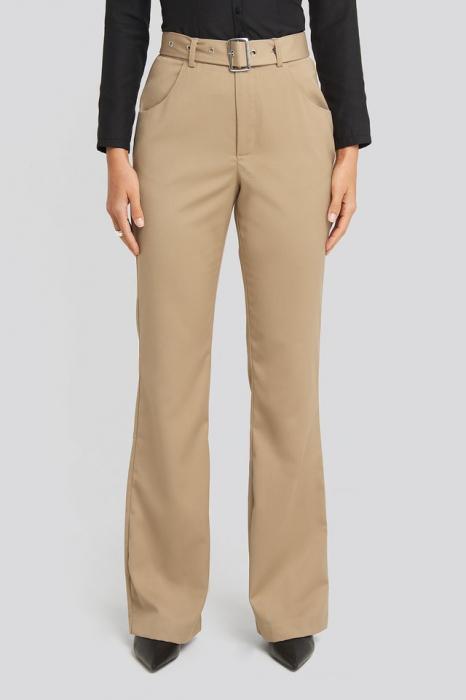 Pantaloni Belted Bootcut Pants [1]