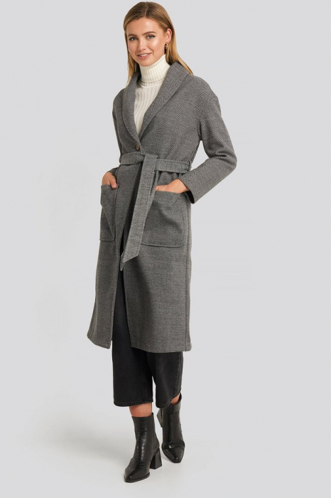 Belted Long Coat [0]