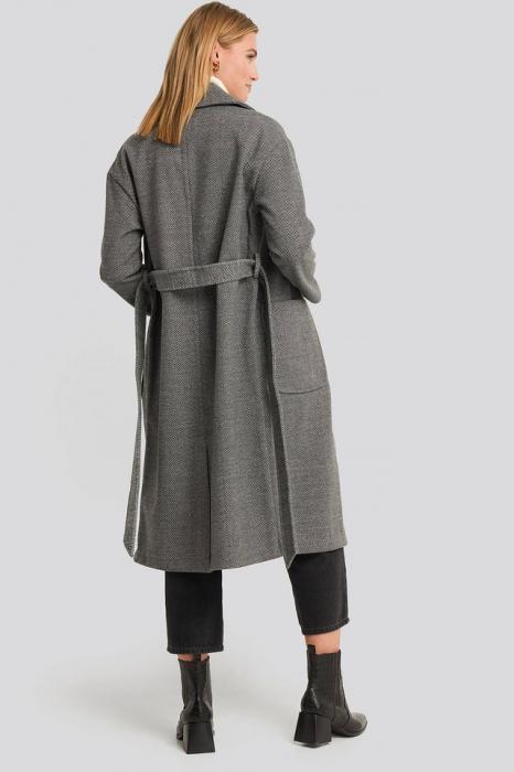Belted Long Coat [1]
