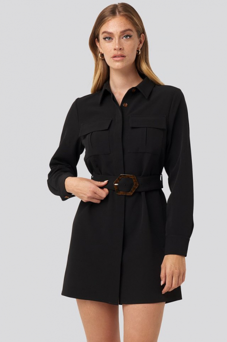 Rochie Belted Straight Fit Shirt [0]
