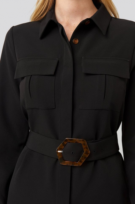 Rochie Belted Straight Fit Shirt [3]