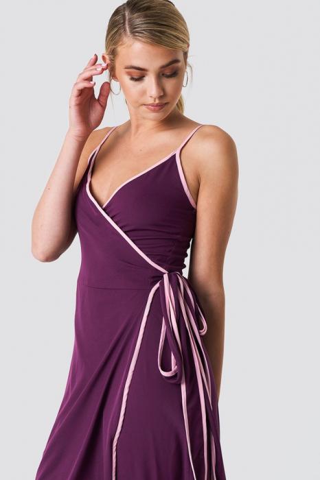 Rochie Binding Detail Wrap Over Dress [0]