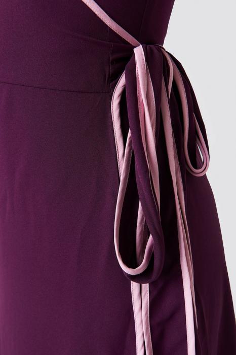 Rochie Binding Detail Wrap Over Dress 3
