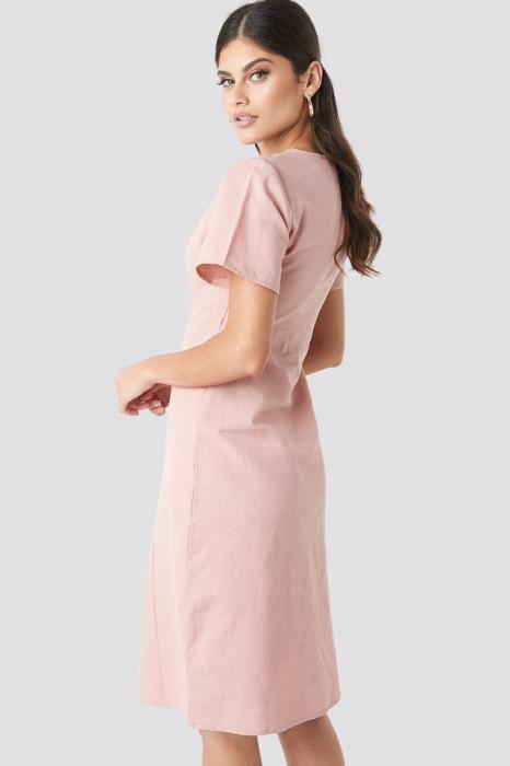 Rochie Button Front Linen-blend 1