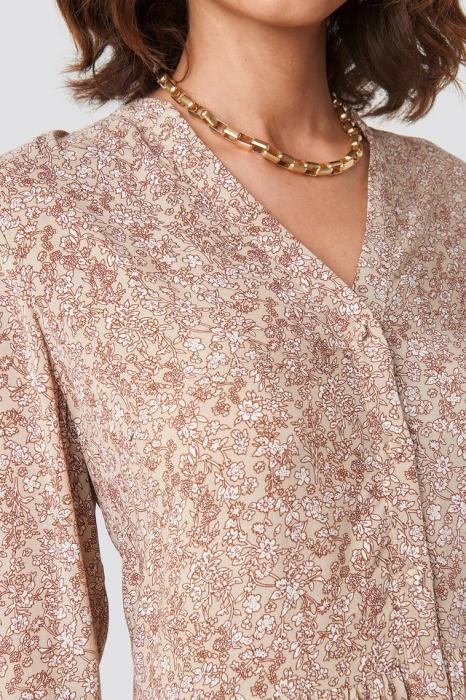 Buttoned Flower Print 2