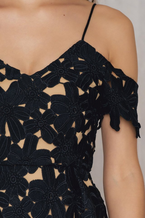 Rochie Cold Shoulder Crochet Midi [3]
