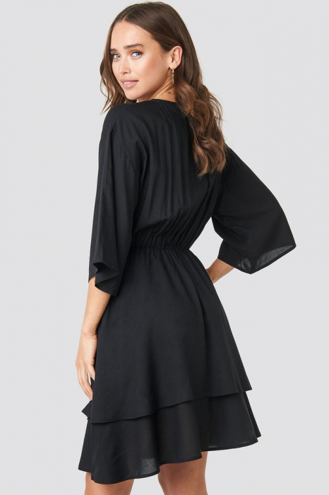 Rochie Contrast Button Layered 1