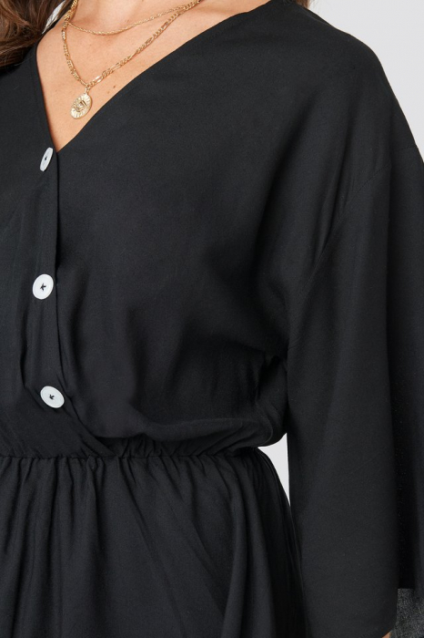 Rochie Contrast Button Layered 2