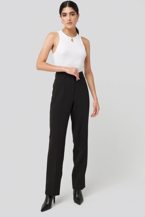 Pantaloni Creased Mid Rise [0]