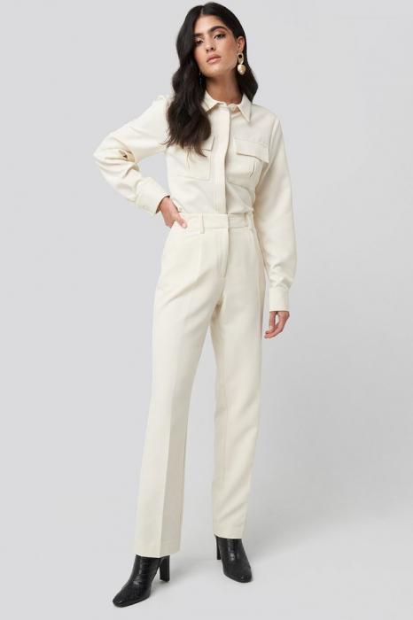 Pantaloni Creased Mid Rise Suit [0]