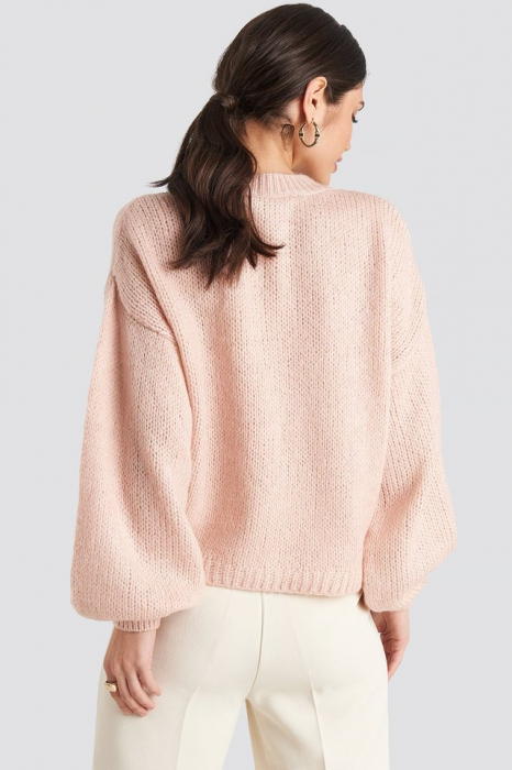 Pulover Crew Neck Volume Sleeve Knitted 1