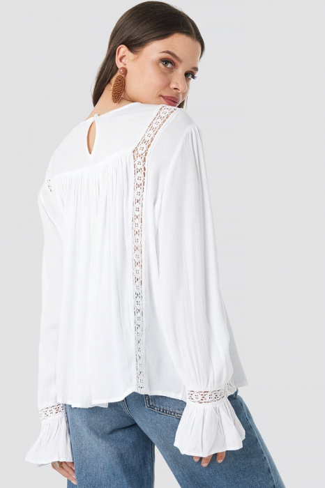 Bluza Crochet Detail Flowy Cotton Top 1