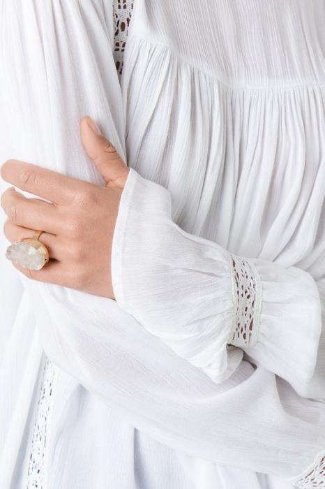 Bluza Crochet Detail Flowy Cotton Top 3