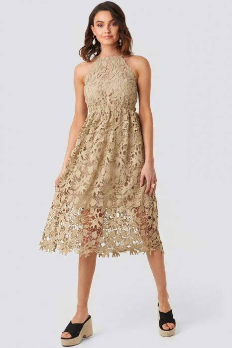 Crochet Strap Back Dress [0]