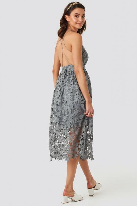 Crochet Strap Back Dress 0