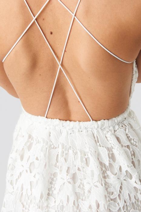 Crochet Strap Back Dress [1]